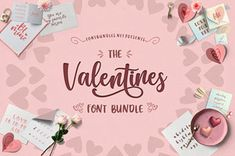 The Valentines Font Bundle - 24 LOVELY fonts available now for off! Handwritten Fonts, All Fonts, Valentine Heart, Valentines, Heart Font, Love Bugs, Monogram Fonts, Premium Fonts, Modern Calligraphy