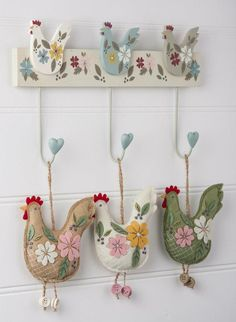 Easter themed chicken decorations and #hooks