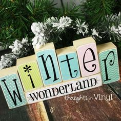 Mini Seasonal Blocks {Winter}