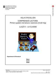 Caaco dos 1213_mt029_r1_primer_quadern_inicial_la_classe_ by mtalaverxtec via slideshare Paragraph, Valencia, Acting, School, Ideas, Kids Psychology, Initials, Inclusive Education, Phonological Awareness