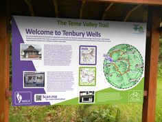 Informational / map board created for Tenbury Wells council. Herefordshire, Promote Your Business, Wells, Map, Board, Location Map, Maps, Planks