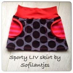 Sportlicher Rock mit Taschen nähen, LIV skirt pattern FREE size 56-92 (EU)