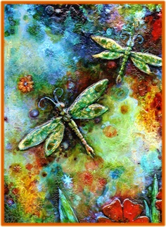 Dragonfly Painting Print Card by NanettaMaria on Etsy, $6.00