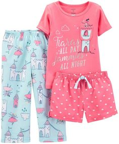 Carter's Toddler Girls Pajamas Set from Macy's Australia - Carter's Toddler Girls Pajamas Set Kids Kids' Clothing - Pajamas Baby Outfits, Toddler Outfits, Toddler Girls, Cute Pajamas, Girls Pajamas, Toddler Fashion, Kids Fashion, Fashion Clothes, Stylish Clothes
