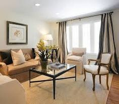 Image result for ceiling to floor white drapes
