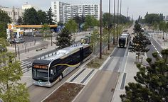 Dedicated median bus lanes are typically applied on major routes with frequent headways or where traffic congestion may significantly affect reliability. Eco City, New Bus, Rapid Transit, Dream City, Urban Planning, Public Transport, Urban Design, Landscape Architecture, Transportation
