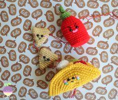 Amigurumi Food: Taco Party Mobile Free Crochet Mobile Amigurumi Food!!