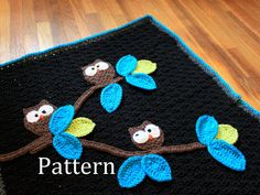 CROCHET BLANKET PATTERN - Owl Baby Blanket Pattern -  Instant Download on Etsy, $4.52 CAD