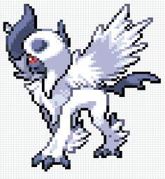 Картинки по запросу absol pokemon pixel art makes Pokemon, Pixel Art, Sonic The Hedgehog, Art, Character, Pokemon Fusion