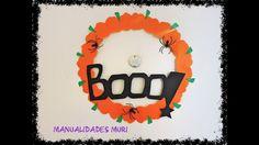 Manualidades Muri, Corona para Halloween muy fácil de hacer