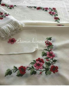 Diy And Crafts, Cross Stitch, Tablecloths, Embroidery, Roses, Crossstitch, Sewing, Punto Croce, Needlepoint