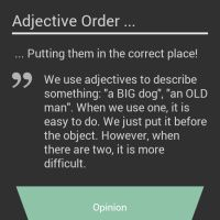 Infographic: Adjective Order