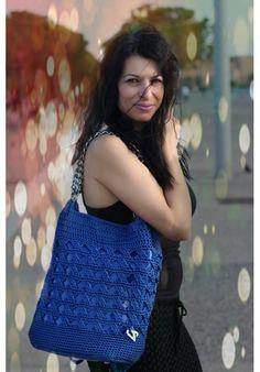 """Blue Flash"" BAGPACK & SHOULDER BAG Crochet Top, Shoulder Bags, Blue, Women, Fashion, Moda, Fashion Styles, Shoulder Bag, Crossbody Bag"