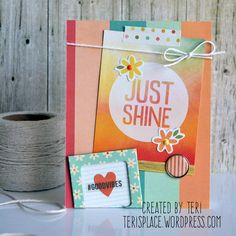 Just Shine - Scrapbook.com - Made with Simple Stories Summer Vibes collection