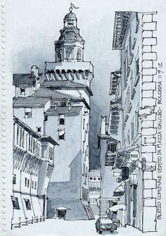 Dibujos en detalle de edificios y casas, también dibujos representativos