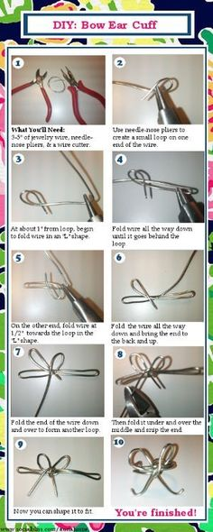 Check out my DIY tutorial for how to make a bow ear cuff!
