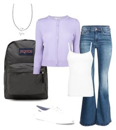 """Simple Purple Giraffe"" by dancingwdaleks on Polyvore featuring JanSport, L.K.Bennett, H&M, BKE core, Keds and Ariel Gordon"