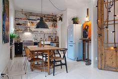 Small Swedish Apartment - kitchen