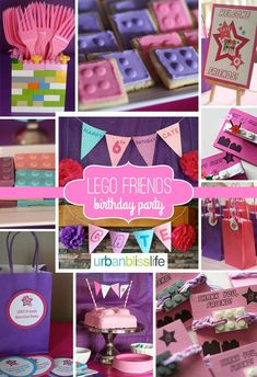 [Party Bliss] LEGO Friends Birthday Party - Lego Friends Birthday Party Planning Tips and Party Ideas - Lego Friends Birthday, Lego Friends Party, 9th Birthday Parties, Lego Birthday Party, Birthday Week, Lego Friends Cake, Birthday Ideas, Cake Birthday, Birthday Quotes