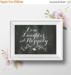 ON SALE Printable Wedding Sign Love Laughter and by PaperRelish