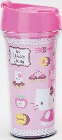 Hello Kitty Plastic Travel Mug : Pink for sale online Cool Travel Mugs, Sanrio Hello Kitty, Mug Cup, Kawaii, Kitten, Plastic, Tableware, Kitchen Dining, Breakfast Recipes