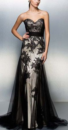 Elegant Evening Black Dress