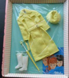 "Vintage 1963 Original Barbie ""RAIN COAT"" #949 NRFB -- RARE #Mattel #ClothingShoes"