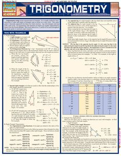 Trigonometry Outline for High School Teachers and Students - http://www.examville.com/examville/Trigonometry%20-PRID1478 #trigonometry #math #highschool #students #SAT #APMath #lessonplans #college #calculus
