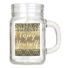 Enjoy Yourself Mason Jar - baby gifts child new born gift idea diy cyo special unique design