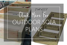 Click Here for Sofa Plans