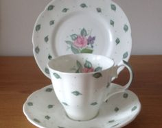 Vintage Susie Cooper Tea Cup, Saucer and Side Plate