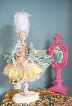 Easter+Lily+OOAK+Art+Doll+By+Moninesfaeries+by+moninesfaeries,+$220.00
