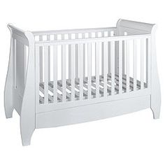 Tutti Bambini Lucas Dropside Sleigh Cot Bed, White - White