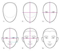 Human Anatomy Fundamentals: Basics of The Face - Tuts+ Design & Illustration Tutorial Face Proportions Drawing, Facial Proportions, Drawing Faces, Realistic Eye Drawing, Human Figure Drawing, Anatomy Drawing, Human Anatomy, Contour Drawing, Drawing Lessons