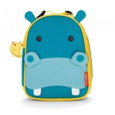 Hippo Zoo Lunch Box from #skiphop - With friendly faces and matching zipper-pulls, Zoo Lunchies make lunchtime fun time!