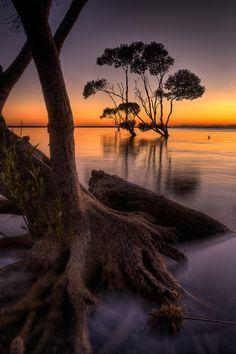 Beachmere, Queensland, Australie #LandscapeSunset