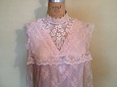 Lovely 80s pink Victorian style long dress by Classicvintageclothe, $39.99