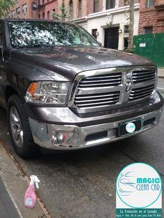 Cliente Magic Clean Car La Camioneta brilla espectacular #Lavarsinagua - Deja Tu Auto Limpio, brillante y protegido sin utilizar una Gota de Agua