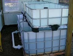 How to convert IBC tote for aquaponics use.