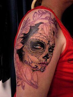 Tattoos - Michele Turco - Mexican Dìa de los muertos, Work In Progress