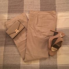 """Banana Republic Stretch Pants These pants are brand new (only worn twice) and so beautiful. Waist does not have much stretch, 32"""" inseam and dry cleaned! Other items in the pictures are for sale too...ask me about personalized bundles if you're interested!! Banana Republic Pants Trousers"""