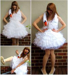 How to make a full costume. Bjork Swan Dress - Step 9