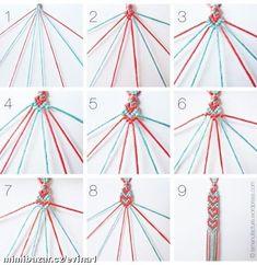 Náramky různé z korálků bavlnek