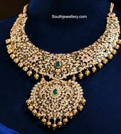 Emerald Necklace, Emerald Jewelry, Diamond Jewelry, Gold Jewelry, Jewelery, Gold Necklace, India Jewelry, Temple Jewellery, Bracelet Designs