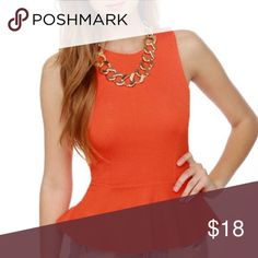 🎈Express Peplum Tank Top Excellent condition! Like New. A beautiful color : a combo of an orange / pink. Suitable for work or for play. Zipper back closure for a sexy edge. Reasonably negotiable and ready to ship! Express Tops Tank Tops