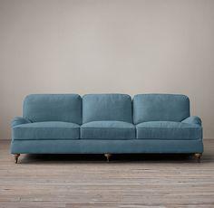 English Roll Arm Upholstered Sleeper Sofa