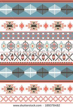 Aztec - Navajo carpet vector pattern - stock vector