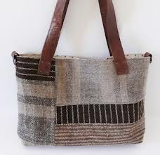 use strips of handwoven cloth