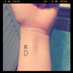 awesome, simple tattoo idea especially since m is my first initial!