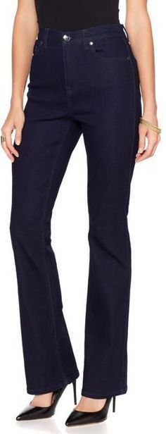 584f5131 DG2 by Diane Gilman Virtual Stretch Boot-Cut Jean - Basic Colors How To  Stretch